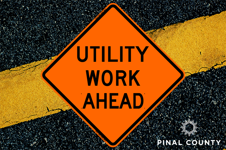 Utility work at Hunt Hwy and Thompson Rd Apr 6-7